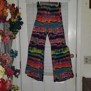 Tie dye flared festival/hippie pants